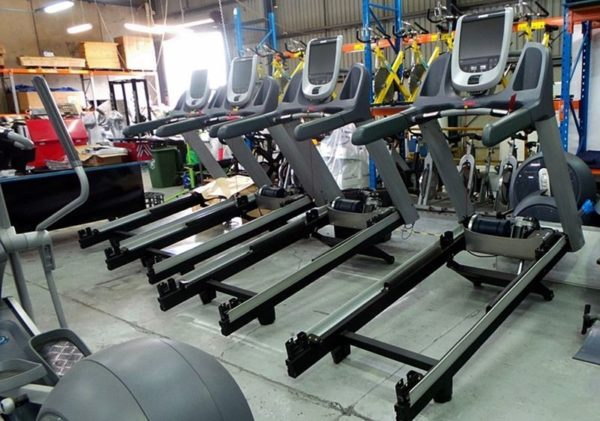 Treadmills Being Remanufactured