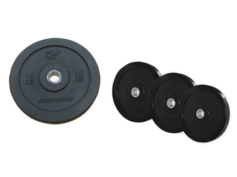 Commercial Olympic Bumper Plates (Black)