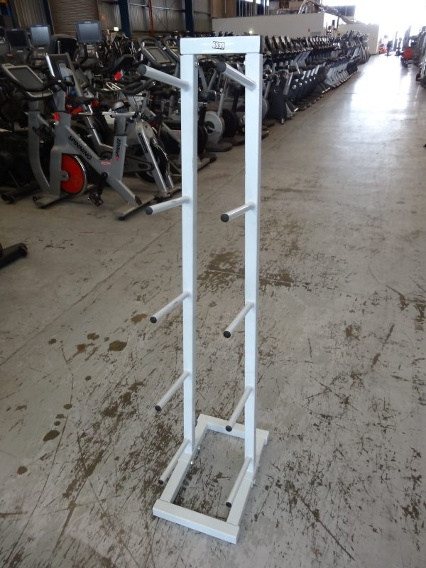 Vertical White Med Ball Rack