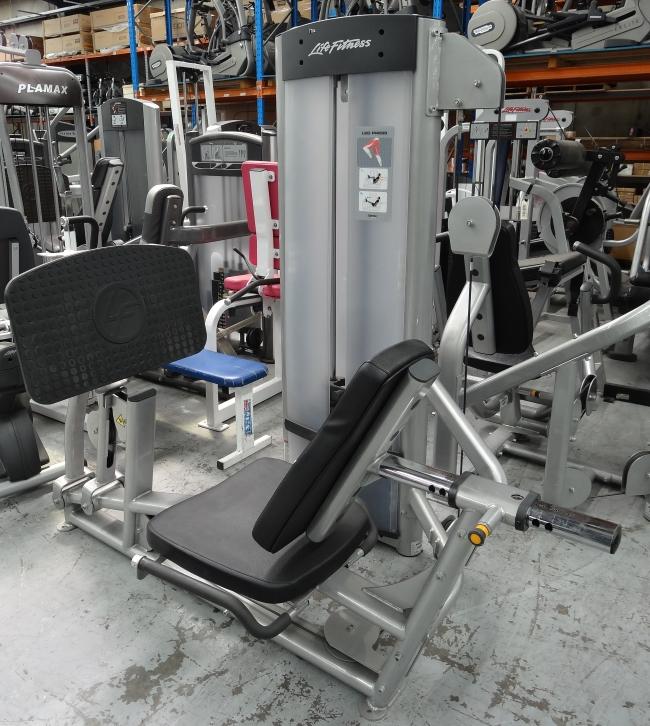 Life fitness optima leg press grays