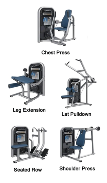 6 Piece Life Fitness Circuit Series Package
